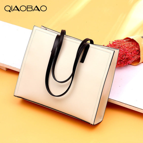 QIAOBAO 100% Genuine Leather Handbag