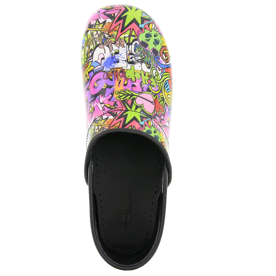 PROFESSIONAL Graffiti Leather Clogs