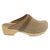 Maja Wood Open Back Mink Oiled Leather Clogs