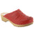 MANDY Wood Open Back Stitched Leather Clogs
