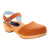 BJORK 654333-6-36 BJORK ALMA Swedish Wood Clog Sandals in Veg Tan Leather Cognac / EU-36