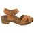 ANJA Swedish Wood Clog Sandals in Veg-Tan Cognac Leather