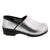 Professional ELLA Silver Leather Clogs