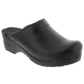 STELLA OPEN BACK Leather Clogs