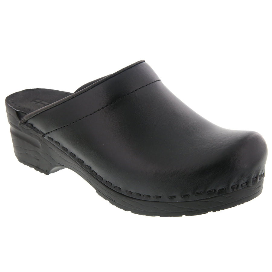 Men's STEIN OPEN BACK Leather Clogs