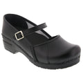 MARCELLA Mary Jane Black Leather Clogs