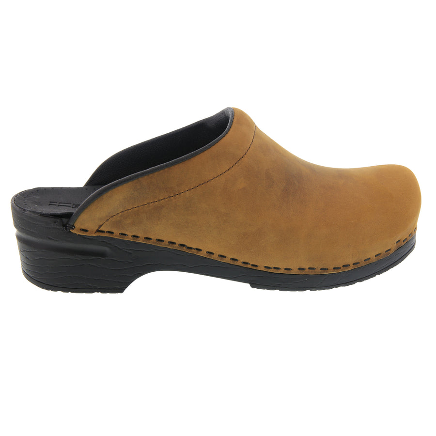 Men's SAM OPEN BACK Oiled Leather Clogs