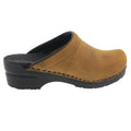 SARA OPEN BACK Oiled Leather Clogs