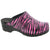 ROSA ZEBRA Open Back Patent Leather Clogs