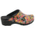OPEN VERA Limited Edition Sugar Skull Leather Clogs