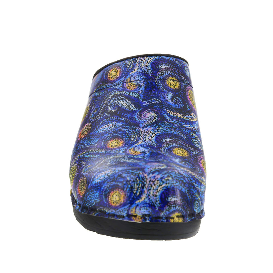 Starry Open Back Leather Clogs