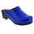 Elly Open Back Blue Patent Leather Clogs