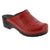 Elly Open Back Red Patent Leather Clogs