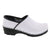 PROFESSIONAL ELSA White Patent Leather Clogs