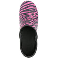PRO ROSA ZEBRA Patent Leather Clogs