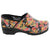 PRO VERA Limited Edition Sugar Skull Leather Clogs