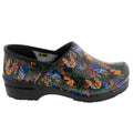Professional Leaves Leather Clogs