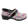 PROFESSIONAL Calla Flower Leather Clogs