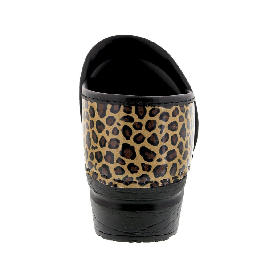 PROFESSIONAL Leopard Leather Clogs