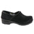 PROFESSIONAL Black Fur Leather Clogs