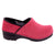PROFESSIONAL Fuchsia Fur Leather Clogs