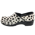 PROFESSIONAL Safari Leather and Fur Clogs in Ocelot Print