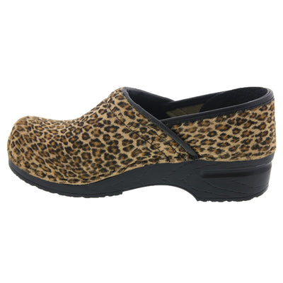 PROFESSIONAL Safari Collection Leather Clogs in Leopard