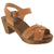 ANNIKA Swedish Wood Open Back Clog Sandals in Cognac Veg-Tan Leather