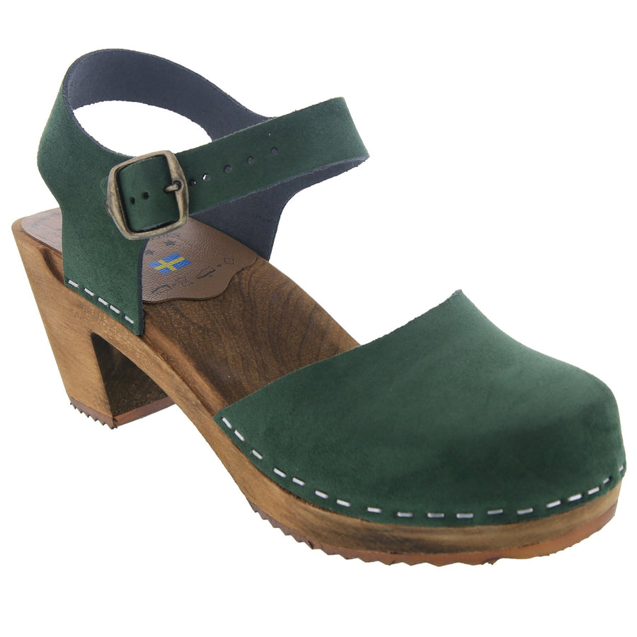 MARGARETA Swedish Wood Clog Sandals