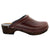 BJORK Men's Christian Wood Open Back Oiled Leather Clogs