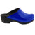 BJORK Shop BJORK Elly Open Back Blue Patent Leather Clogs