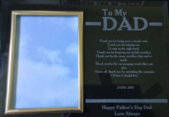 """Dad"" Engraved Plaque"
