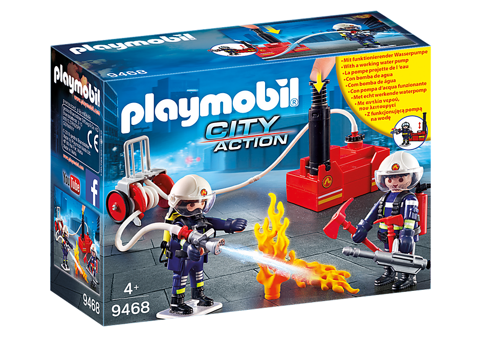 Playmobil - Firefighters with Water Pump
