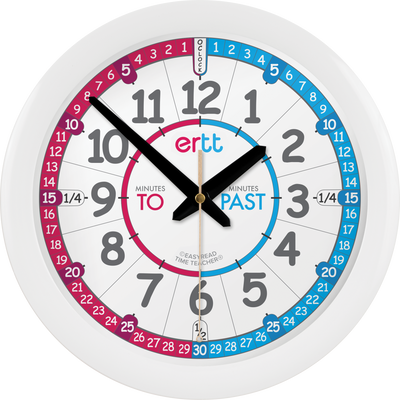 EasyRead Time Teacher - Wall Clock Red/Blue Face
