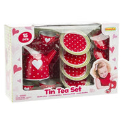 Champion - Tin Tea Set Red Heart 15p