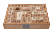 Wooden Story - Peace & Love Wooden Story Blocks