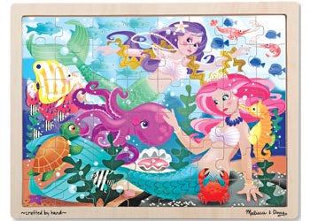 Melissa & Doug - Tray Puzzle Mermaid Fantasea