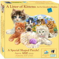 Sunsout - Puzzle 1000p Shaped A Litter of Kittens