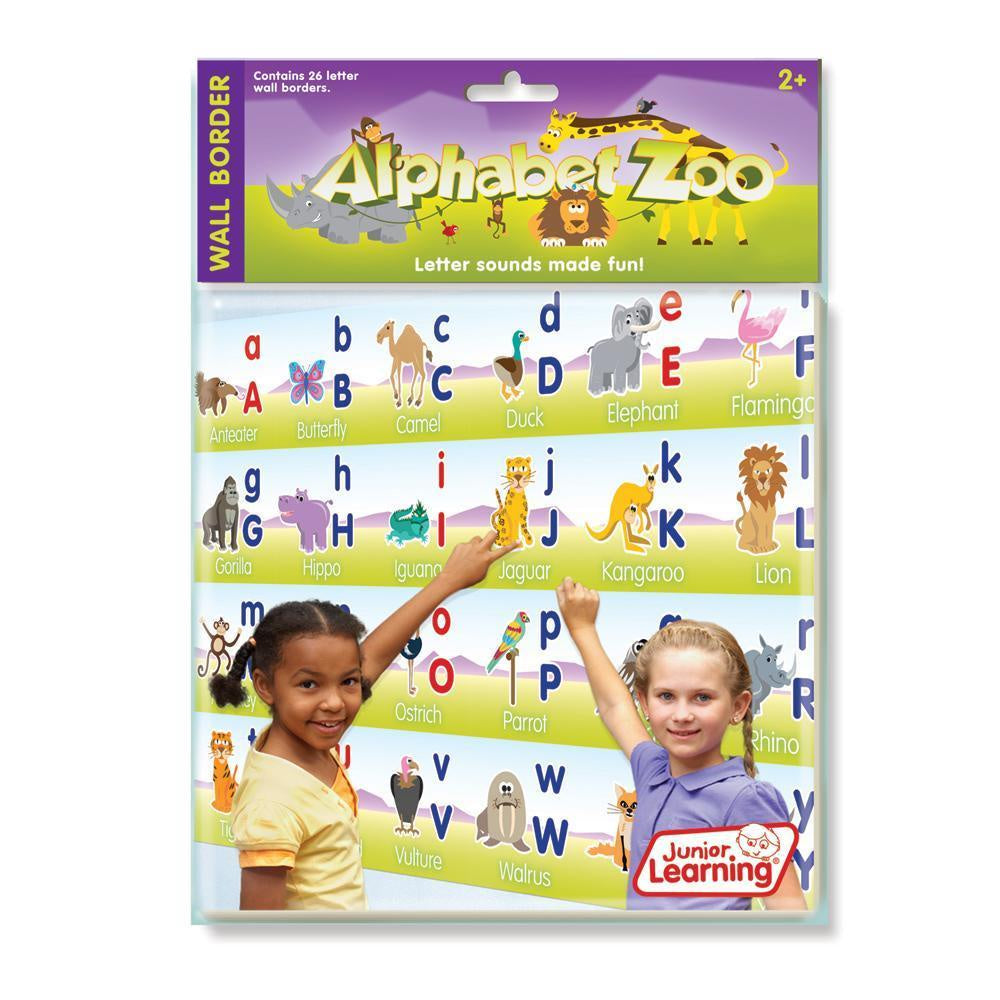 Junior Learning -  Wall Border Alphabet Zoo