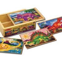 Melissa & Doug - Puzzles in a Box Dinosaurs