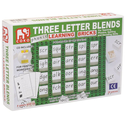Coko - Learning Bricks 3 Letter Blends 20p