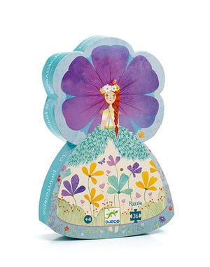 Djeco - Silhouette Puzzle The Princess of Spring