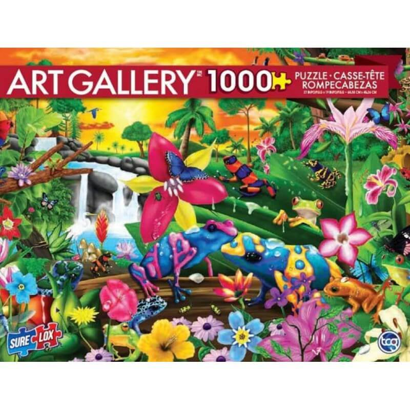 Sure Lox - 1000 piece Puzzle Tropical Frogs