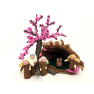 Himalayan Journey - Felt Cherry Blossom Family Home
