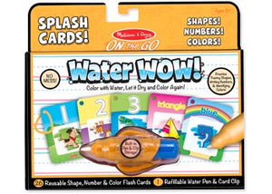 Melissa & Doug - Water WOW Cards Shapes! Numbers! Colours!