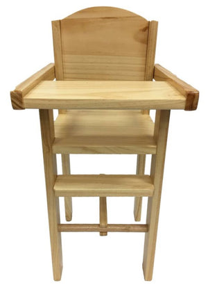 Wooden Dolls High Chair