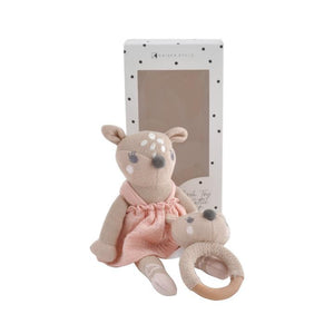 Kaisercraft - Plush Toy & Rattle Set Dottie the Deer