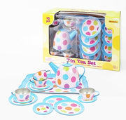 Champion - Tin Tea Set Polka Dots 15p