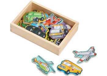 Melissa & Doug - Vehicle Magnets in a Box