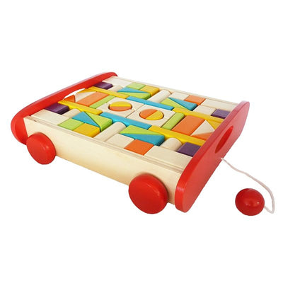 Artiwood - Wooden Block Trolley Set